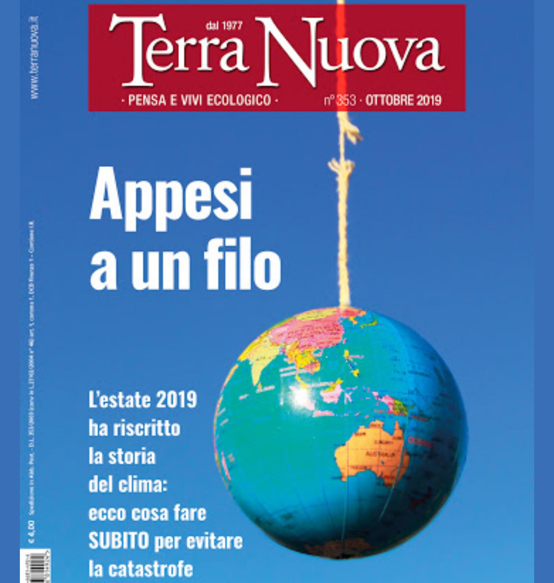 Copertina Rivista Terra Nuova ottobre 2019